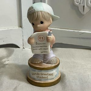 """Precious moments """"worlds greatest student""""Figurine"""